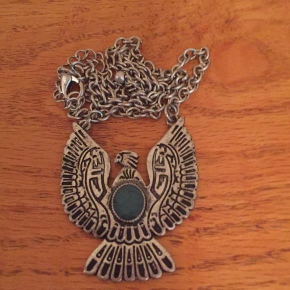 Native American Jewelry Navajo Silver Firebird Eagle Bird Phoenix